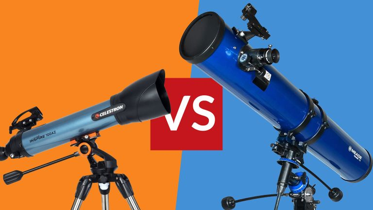 Celestron Inspire 100AZ refractor telescope vs Meade Polaris 114mm reflector telescope