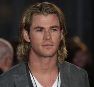 Chris Hemsworth at The Hunger Games premiere.