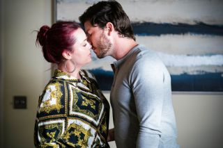 Gray Atkins kisses Whitney Dean in EastEnders