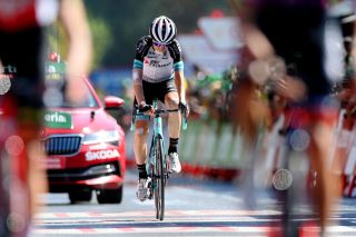 Mikel Nieve (BikeExchange) finishes stage 13 of the 2021 Vuelta a Espana
