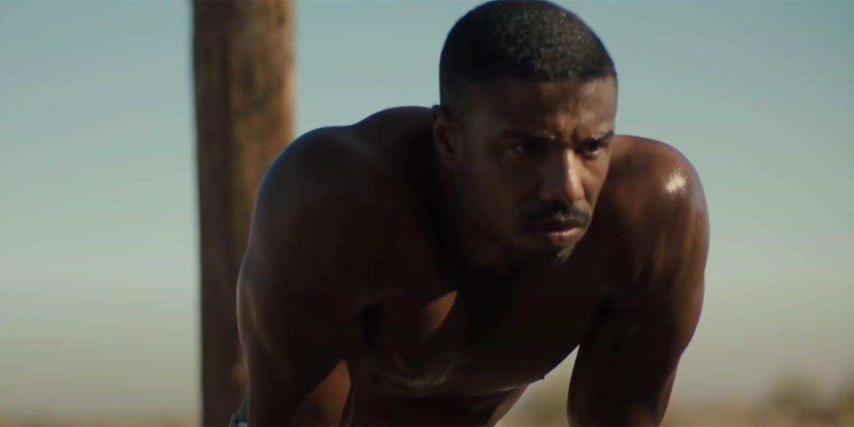 Michael B. Jordan shirtless in Creed