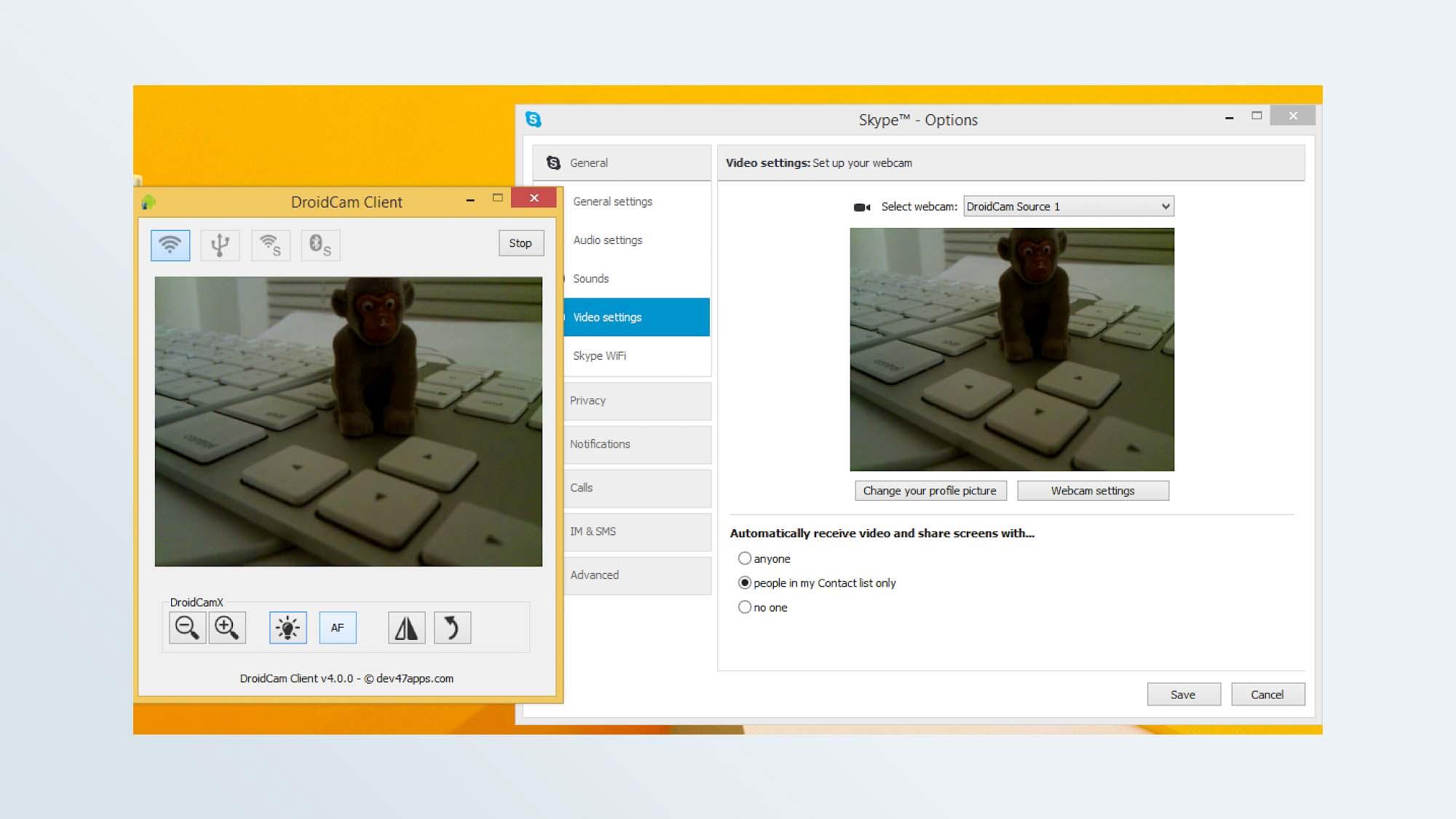 Como usar o telefone como webcam: DroidCam