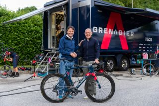 Fausto Pinarello and Dave Brailsford confirm Ineos Grenadiers' four-year extension with the bike brand