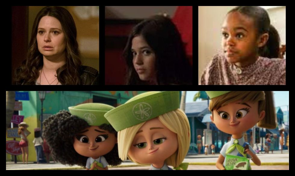 Katie Lowes, Olivia Trujillo, And Lidya Jewett plays the Scout Troopers in Vivo.