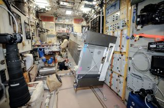 Treadmill Vibration Isolation System in ISS