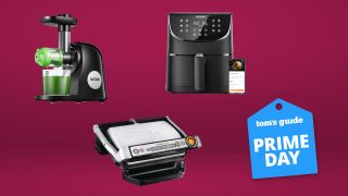 Aicok Slow Masticating Juicer, Cosori Smart WiFi Air Fryer and T-Fal Op-ti Grill