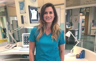 Dawn Steele plays Ange Goddard in Holby City