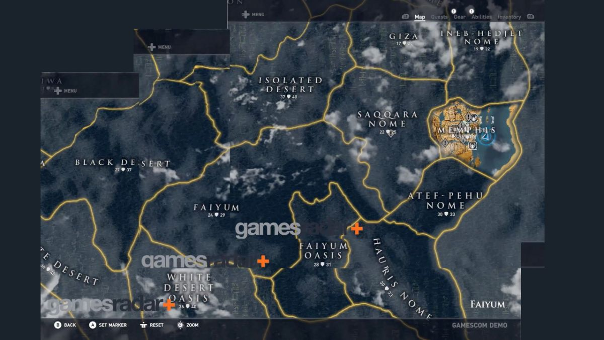 Omzg Take A Look At The Assassin S Creed Origins Map It S Huge Gamesradar