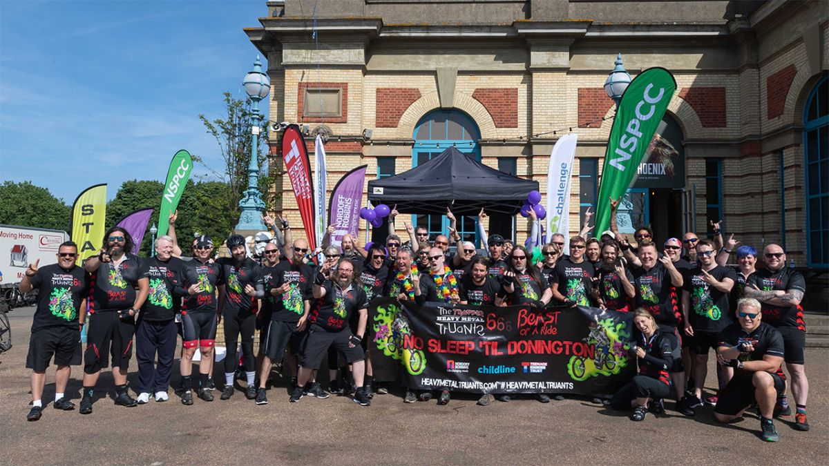 The Heavy Metal Truants Are Cycling To Download For Charity  And Need Your Help