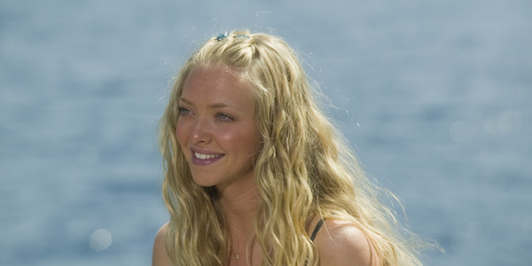 Sophie smiling in Mamma Mia!