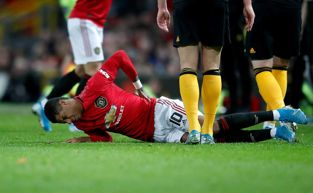 Marcus Rashford Cleared To Step Up Recovery From Back Injury Fourfourtwo