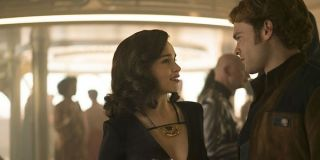 Qi'ra and Han Solo in Solo: A Star Wars Story