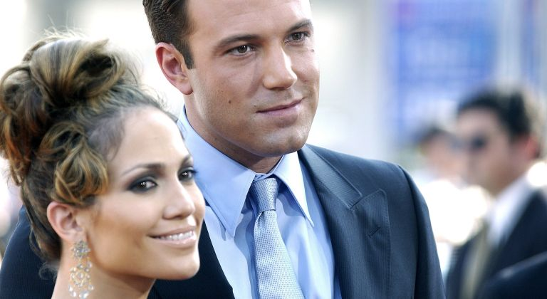 """JLo and Ben Affleck during """"Gigli"""" California Premiere at Mann National in Westwood, California"""