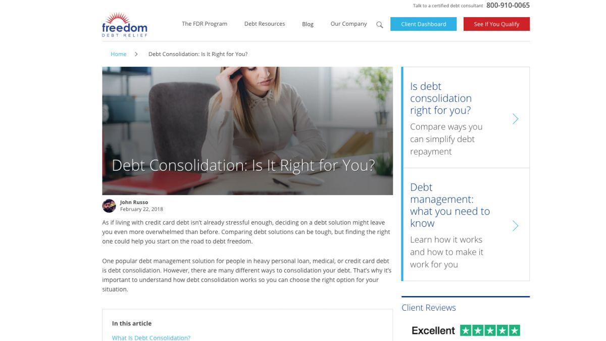 Best Debt Consolidation Companies 2019 - Reviews, Comparison