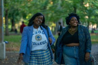 Lolly Adefope and Jessica Henderson in Hulu's 'Shrill'
