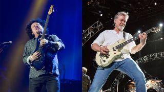Steve Lukather (left) and Eddie Van Halen