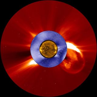 Snapshot of a Coronal Mass Ejection