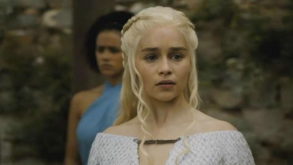 Emilia Clarke as Daenerys Targaryen in Game of Throne
