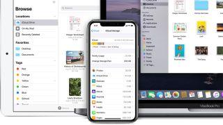 Apple iCloud storage app on iPad, iPhone and MacBook Pro