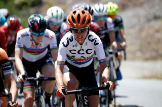 VENTURA CALIFORNIA MAY 16 Ashleigh MoolmanPasio of South Africa and Team CCC Liv competes during the Amgen Tour Of California Womens Race 2019 Stage 1 a 965km stage from Ventura to Ventura AmgenTOCWomen AmgenTOC on May 16 2019 in Ventura California Photo by Sean M HaffeyGetty Images