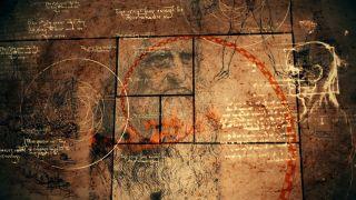Leonardo da Vinci sketches and code.