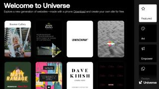 Universe website builder