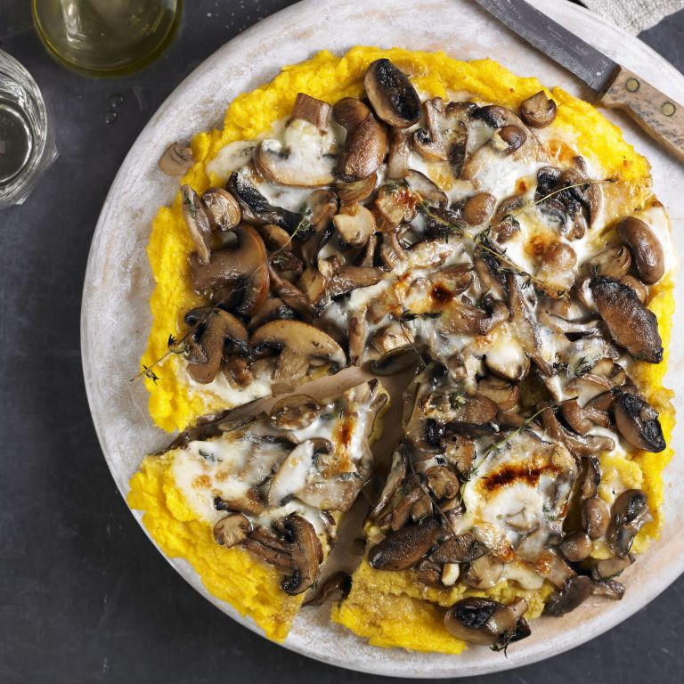 "Wild Mushroom and Parmesan Polenta ""Pizza"" recipe-recipe ideas-new recipes-woman and home"