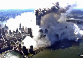 dust plume from WTC