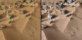 mars rover curiosity rocknest