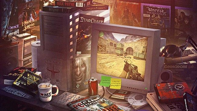 This PC gaming bedroom art is a powerful hit of nostalgia