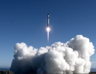 A Rocket Lab Electron booster carrying the Sequoia Earth-watching satellite for Capella Space launches into orbit from Launch Complex 1 at Mahia Peninsula, New Zealand in a successful return-to-flight mission on Aug. 31, 2020 NZT (Aug. 30 GMT/EDT).