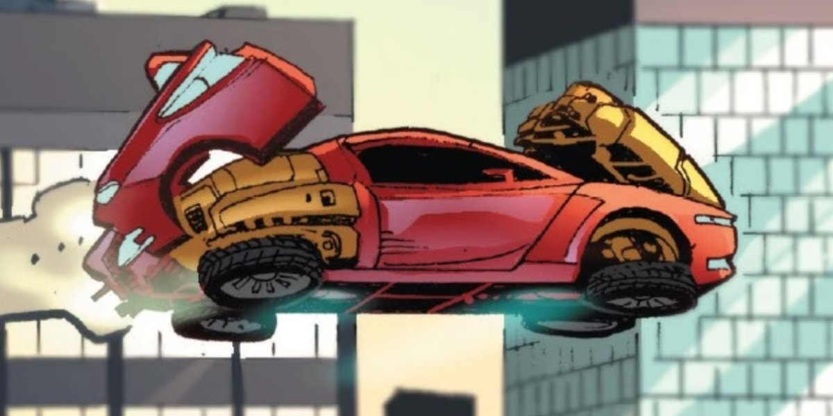 Tony Stark's Model 52 is both an Iron Man suit and a flying car