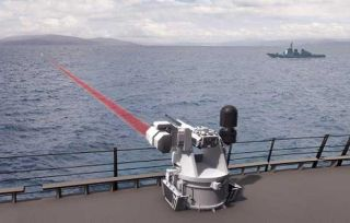 BAE laser machine gun