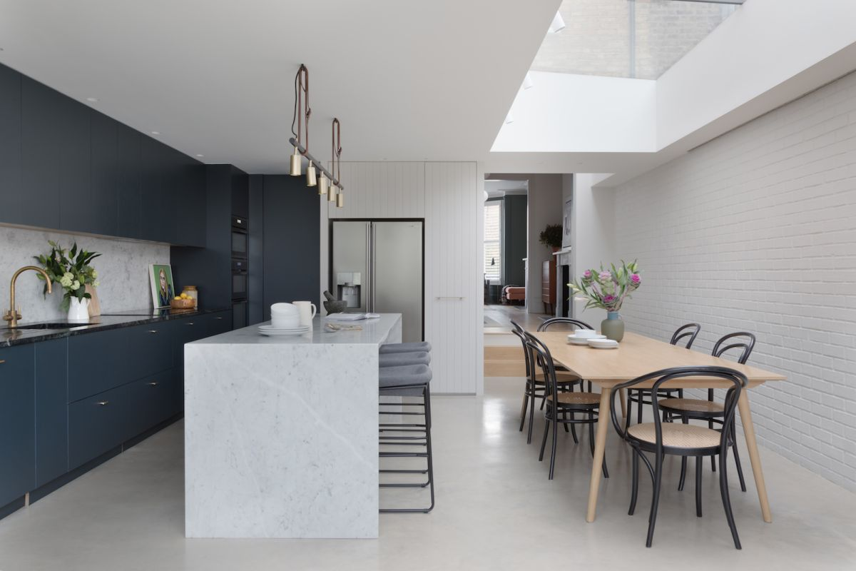 This restored Victorian home in Finsbury Park features a fresh, industrial scheme and modern extensions