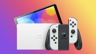 A photo of the Switch OLED.