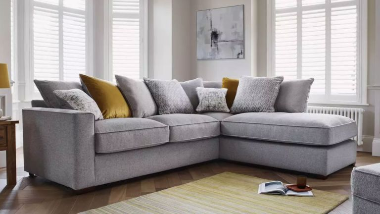 grey corner sofa from furniture village