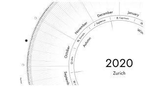 circular calendar