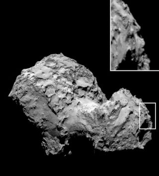 rosetta comet 67p photo of face