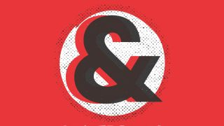 An image displaying layered ampersand symbols over halftone dots layered over a white circle with a red background.