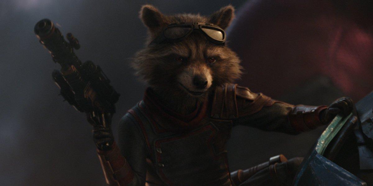 Rocket Racoon in Avengers Endgame