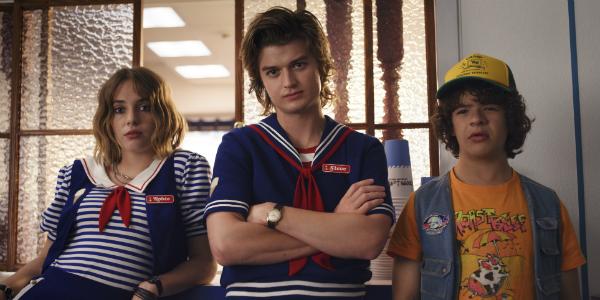 Stranger Things Maya Hawke Robin Joe Keery Steve Harrington Gaten Matarazzo Dustin Henderson Netflix