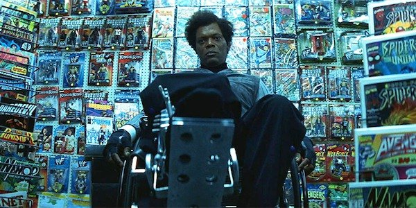 "Samuel L. Jackson as Elijah ""Mr. Glass"" Price in Unbreakable"