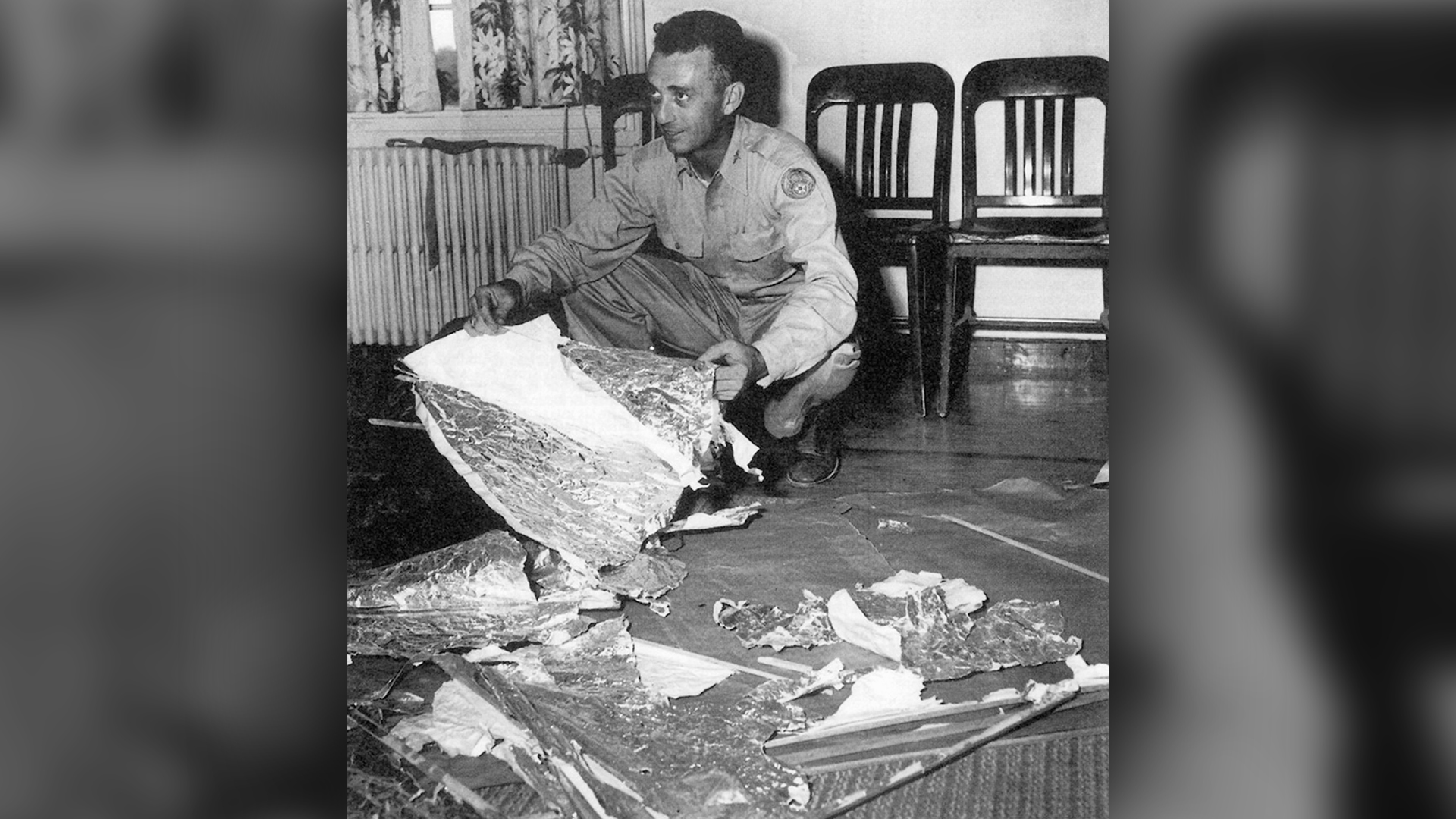 Major Jesse Marcel, head intelligence officer at the Roswell Army Air Field, investigated and recovered some of the debris from the Roswell UFO site in 1947.