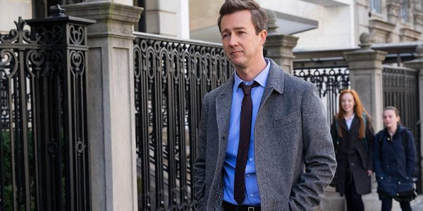 Collateral Beauty Edward Norton looking glum