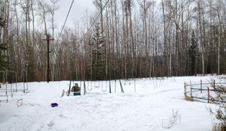 Snowy swing set in Fairbanks, Alaska