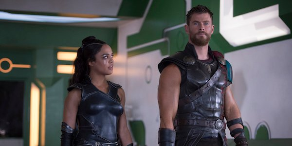 Thor and Valkyrie in Thor: Ragnarok
