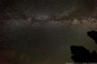 Night Sky Over Flagstaff During Perseid Meteor Shower Gresser