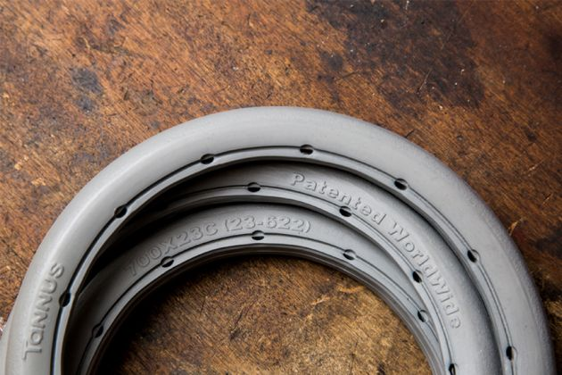 Puncture Proof We Look At Tannus Tyres Cycling Weekly