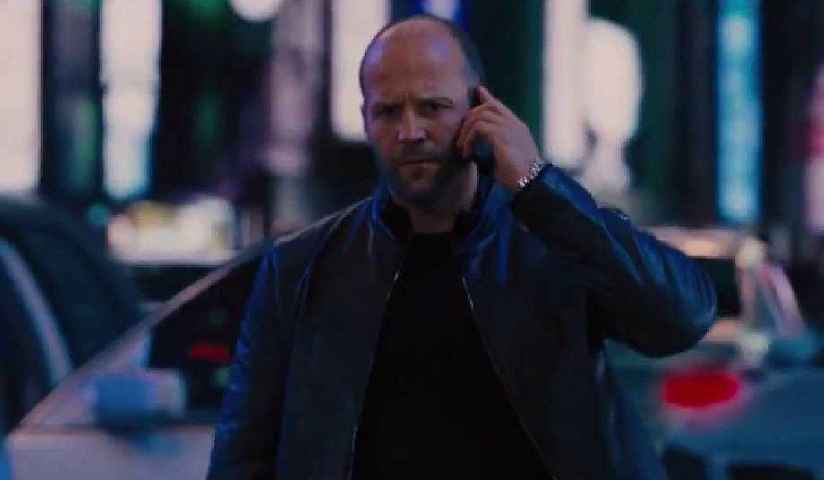 Fast & Furious 6 Jason Statham making a call