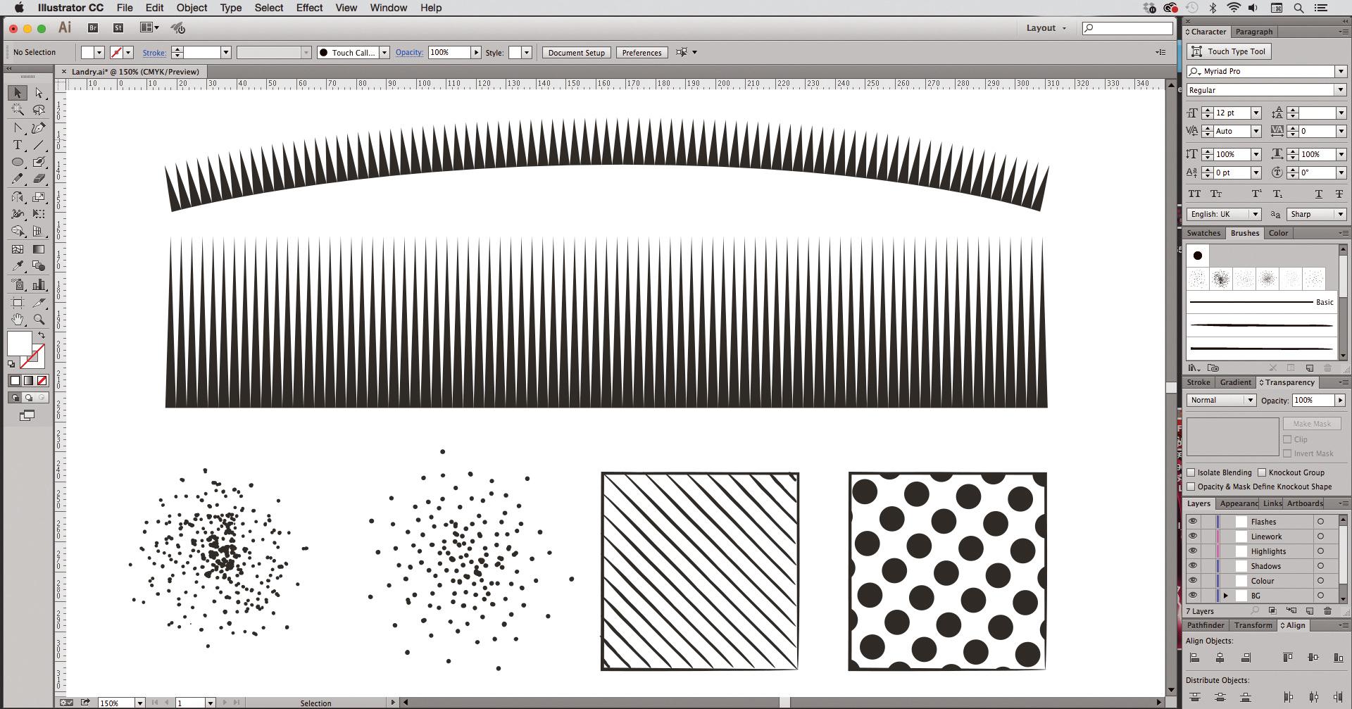 Illustrator: Brush library